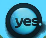 מוגש באמצעות yes