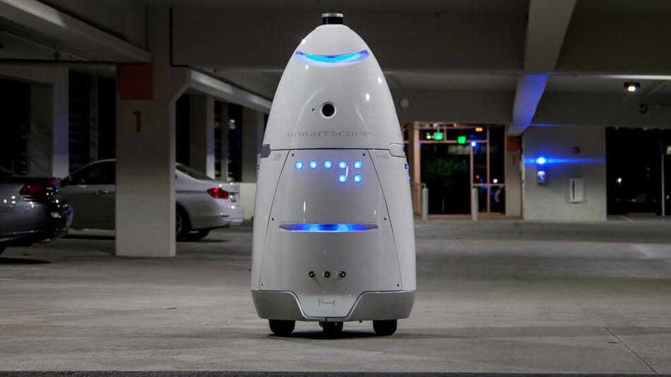 רובוט אבטחה הטביע עצמו