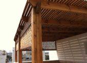 חברת בלקון - בניית פרגולה מעץ ומתכת