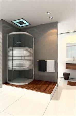 מקלחון פינתי עגול