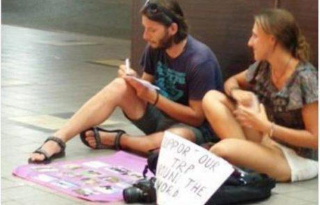 הטרנד חסר הבושה של מטיילים צעירים: תיירות נדבות